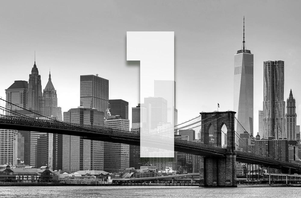 xxl poster new york manhattan skyline mit one world trade center 1 wtc schwarz wei giant art. Black Bedroom Furniture Sets. Home Design Ideas