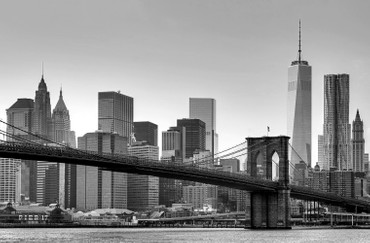 XXL Poster New York Manhattan Skyline mit One World Trade Center 1 WTC Schwarz-weiß – Bild 1