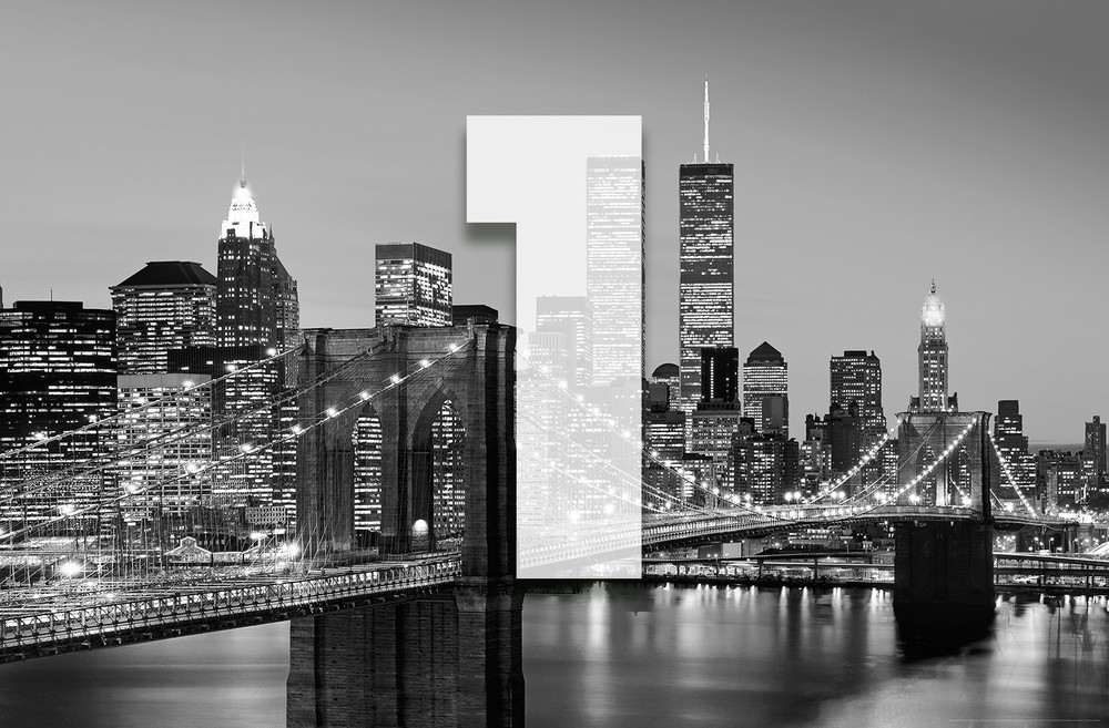 xxl poster new york manhattan skyline schwarz wei giant art xxl poster giant art xxl poster. Black Bedroom Furniture Sets. Home Design Ideas
