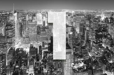 XXL Poster New York Manhattan Luftaufnahme Schwarz-weiß – Bild 3