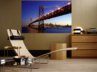XXL Poster San Francisco Skyline Golden Gate Bridge – Bild 1