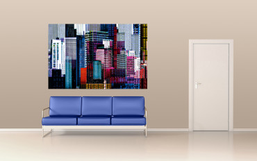 XXL Poster Abstrakt New York Skyline – Bild 1