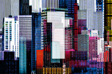 XXL Poster Abstrakt New York Skyline – Bild 3