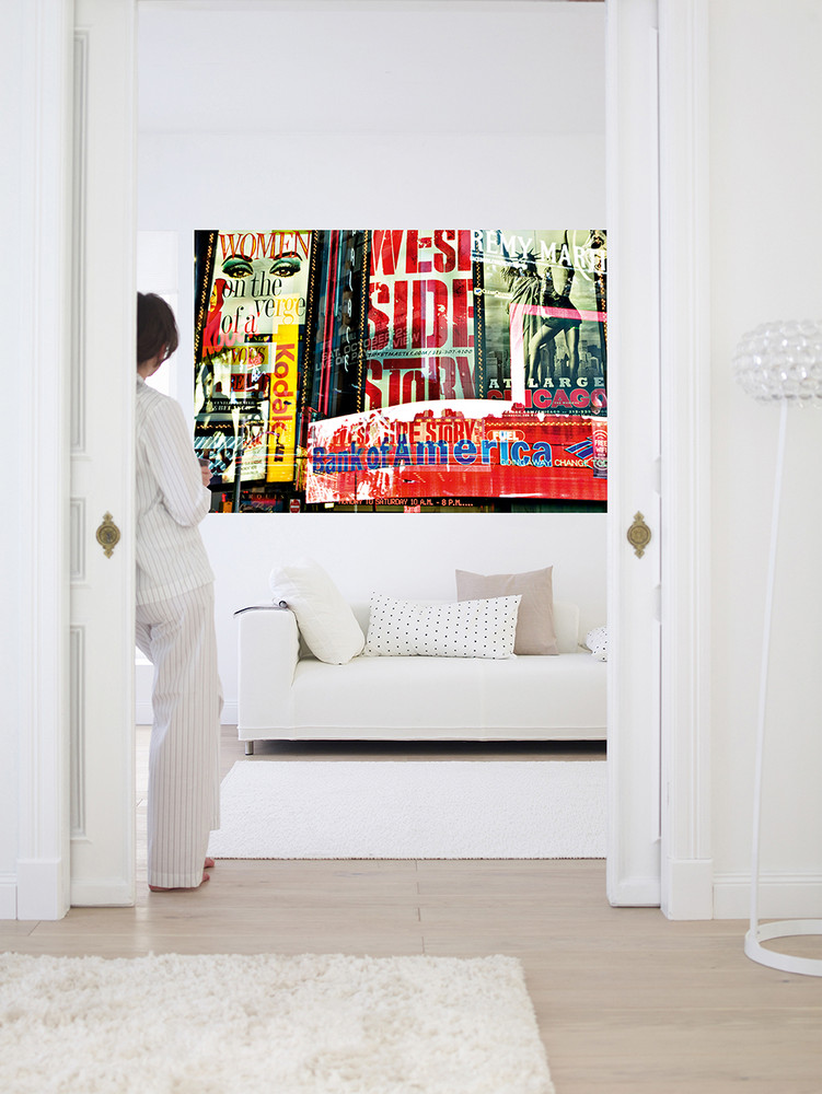 Giant art times square neon stories giant art posters for Decor mural xxl cheval