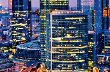 XXL Poster Stadt Moskau Urban Lichtstreifen Langzeitbeleuchtung – Bild 3