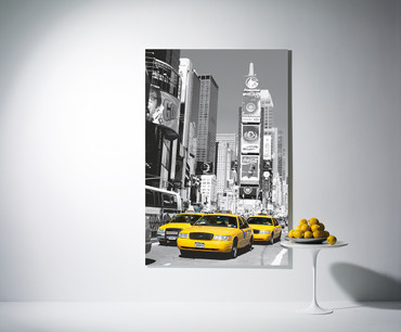 XXL Poster New York Gelbe Taxis Time Square – Bild 1