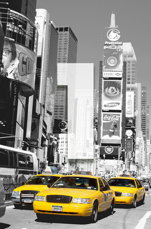 XXL Poster New York Gelbe Taxis Time Square – Bild 3