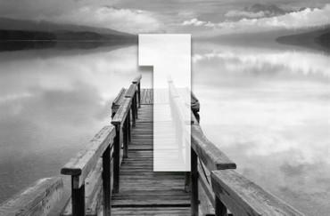 XXL Poster Steg Schwarz-weiß als optische Vergrößerung – Bild 3