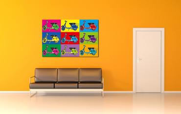 XXL Poster Kunst Pop Art Roller – Bild 2