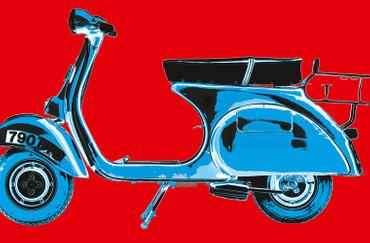 XXL Poster Kunst Pop Art Roller – Bild 3