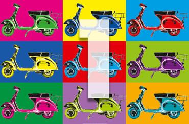 XXL Poster Kunst Pop Art Roller – Bild 4