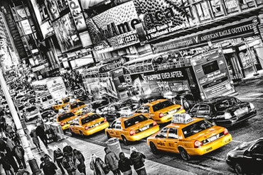 XXL Poster New York Gelbe Taxis Time Square – Bild 2