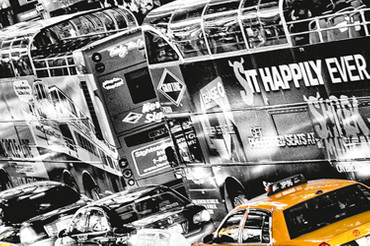 XXL Poster New York Gelbe Taxis Time Square – Bild 4