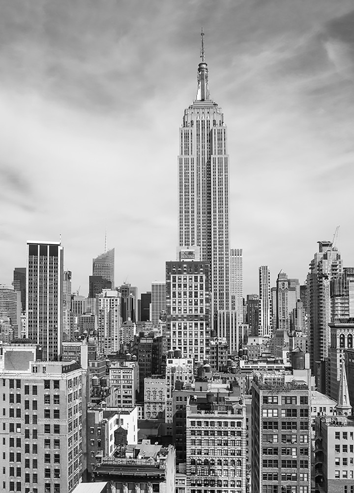 Wall mural the empire state paper wall murals xl paper for Empire state building mural