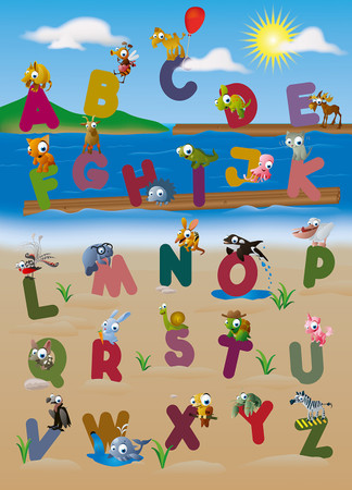 Wall Mural Animal Alphabet – Bild 2