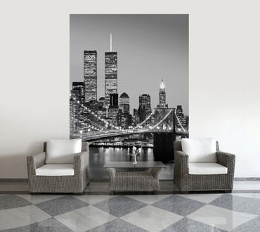 Wall Mural Manhattan Skyline at Night – Bild 1