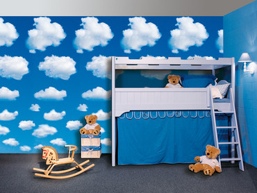 Wall Mural White Clouds – Bild 1
