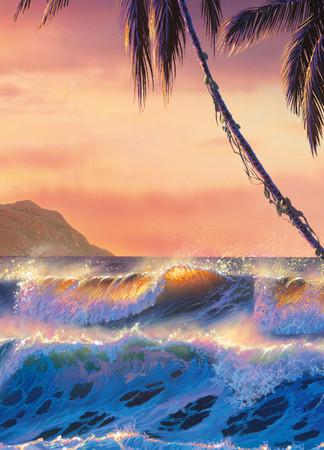 Fototapete Meer, Palmen und Strand Fantasie Fantasy – Bild 4