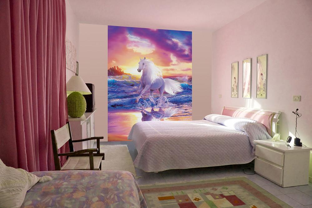 fototapete pferd am strand fantasie f r kinder fantasy papier fototapeten xl papier fototapeten. Black Bedroom Furniture Sets. Home Design Ideas