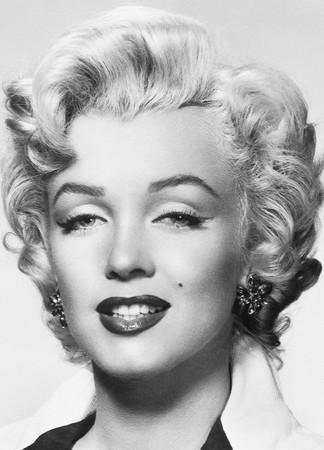 Fototapete Marilyn Monroe Schwarz-weiß