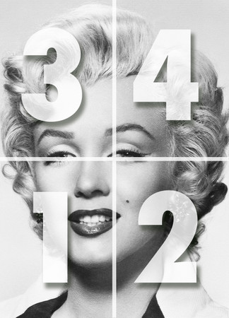 Fototapete Marilyn Monroe Schwarz-weiß – Bild 2