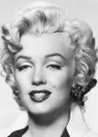 Fototapete Marilyn Monroe Schwarz-weiß 001