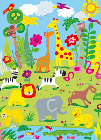 Wall Mural Animal Safari – Bild 2