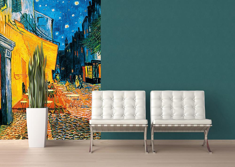 Wall Mural Terrasse De Café La Nuit