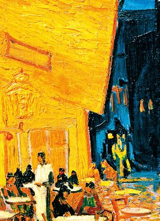 Fototapete Kunst Gemälde Caféterrasse am Abend van Gogh – Bild 2