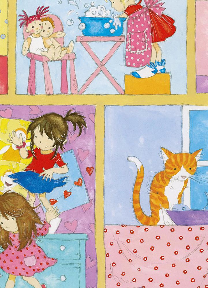 Fototapete Mädchen Puppenhaus Kinder