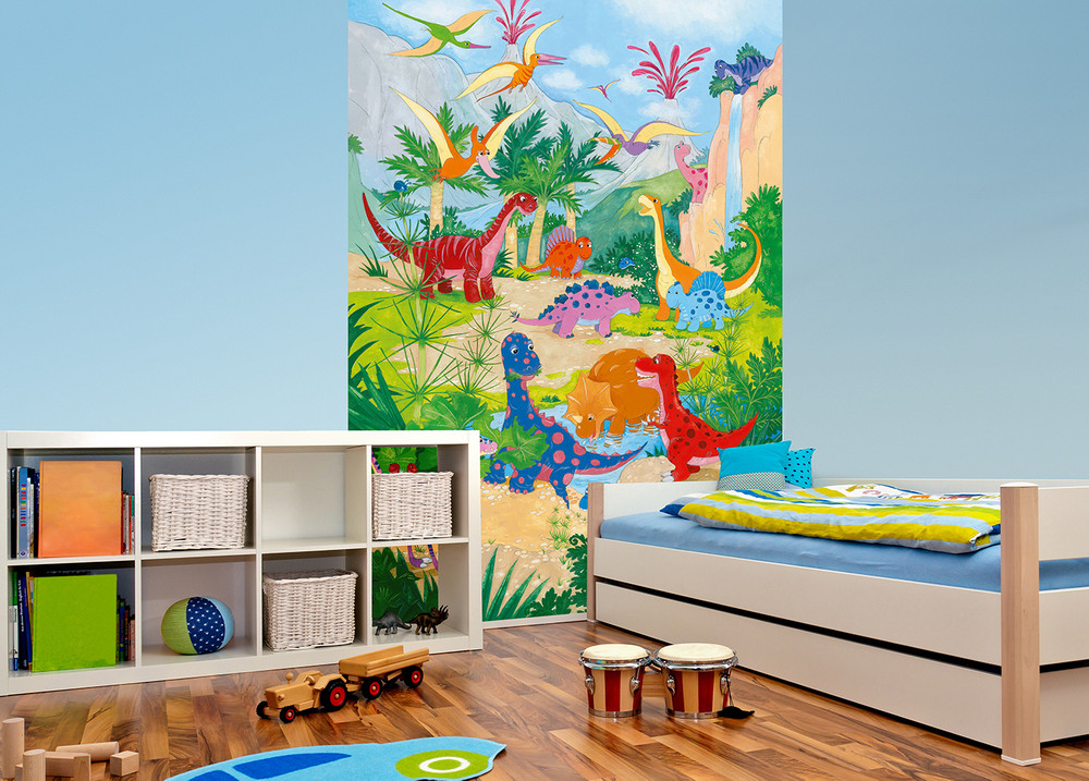 fototapete jungen dinosaurier kinder fototapeten. Black Bedroom Furniture Sets. Home Design Ideas