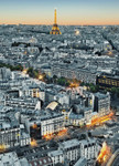 Wall Mural Paris Aerial View 001