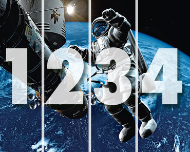Vlies Fototapete Weltraum mit Astronaut – Bild 3