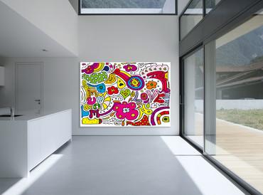 Vlies Fototapete Kunst Liebe und Frieden – Bild 1