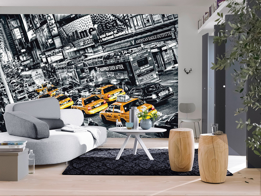 Wall Mural Cabs Queue 001