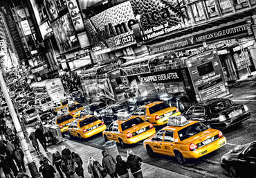 Fototapete New York Gelbe Taxis Time Square – Bild 2