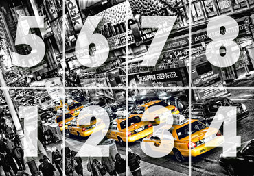 Fototapete New York Gelbe Taxis Time Square – Bild 3