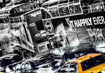 Fototapete New York Gelbe Taxis Time Square – Bild 4