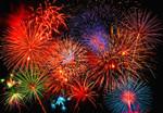 Wall Mural Fireworks 001