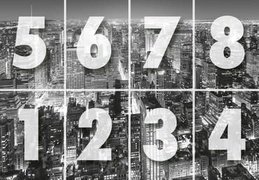 Fototapete New York Manhattan Luftaufnahme Schwarz-weiß – Bild 3