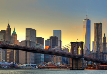 Fototapete Brooklyn Bridge At Sunset – Bild 2