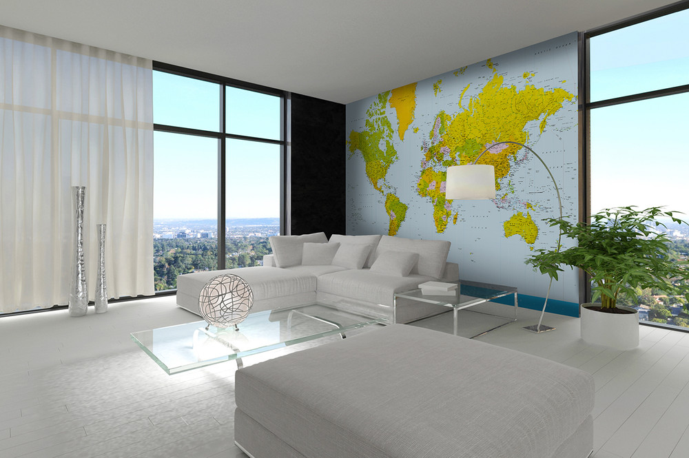 Wall Mural Map of the World 001