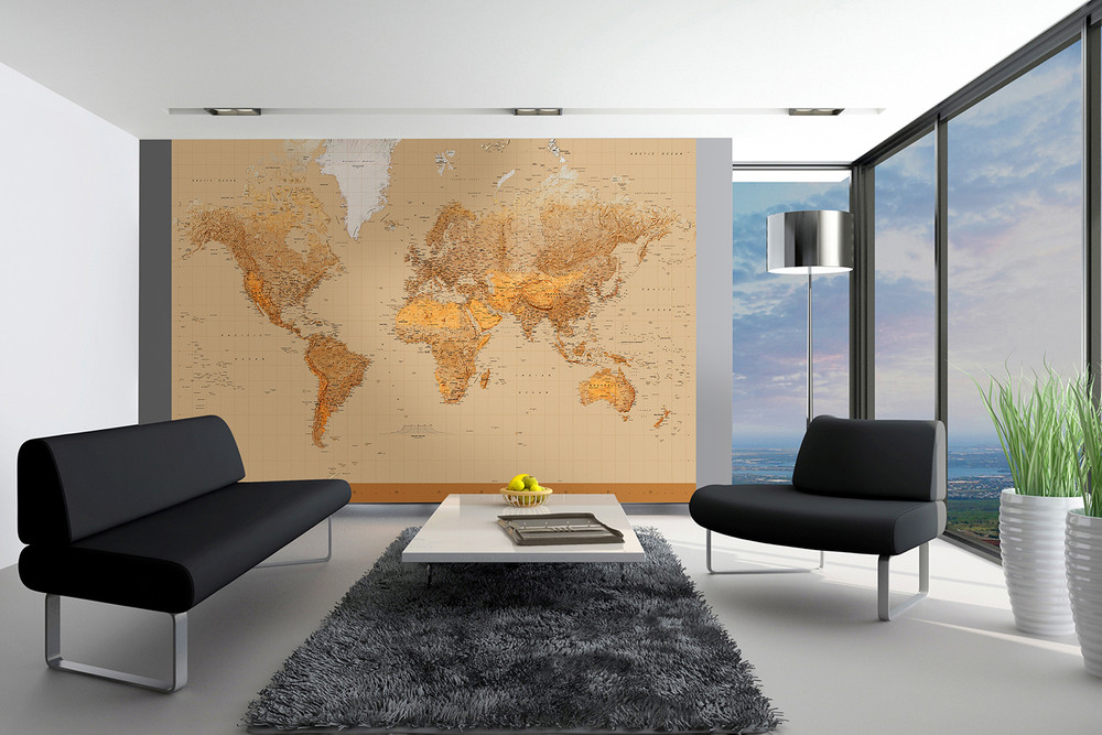 Wall Mural The World 001