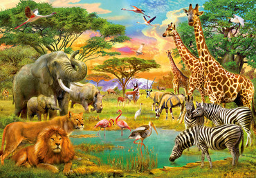 Wall Mural African Animals – Bild 2