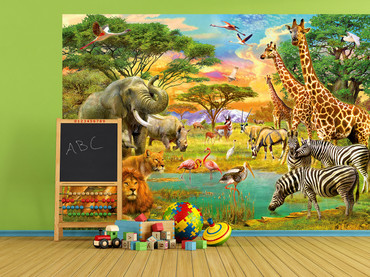 Wall Mural African Animals – Bild 1