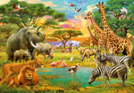 Wall Mural African Animals 001