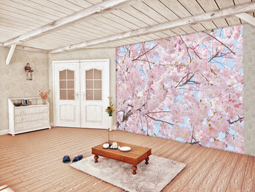 Wall Mural Pink Blossoms
