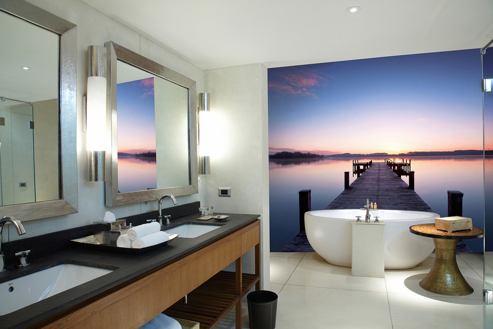 Non-Woven Wall Mural Pier at Sunrise 001