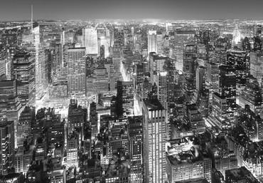 Vlies Fototapete New York Manhattan Luftaufnahme Schwarz-weiß – Bild 2