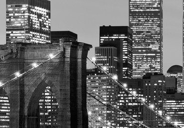 Non-Woven Wall Mural Manhattan Skyline at Night – Bild 4